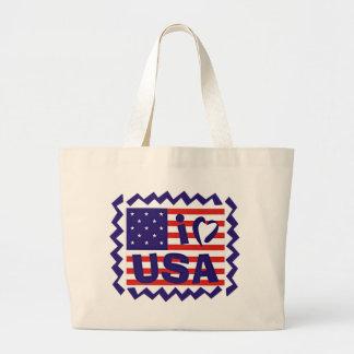 I love USA Stamp Design Tote Bag
