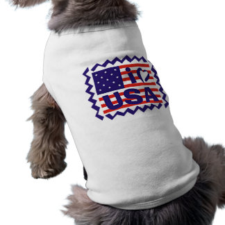 I love USA Stamp Design Dog Clothes
