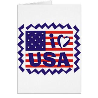 I love USA Stamp Design Greeting Card