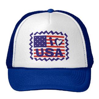 I love USA Stamp Design Hats