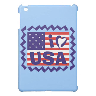 I love USA Stamp Design iPad Mini Case