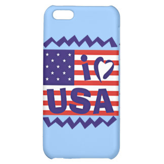I love USA Stamp Design iPhone 5C Covers