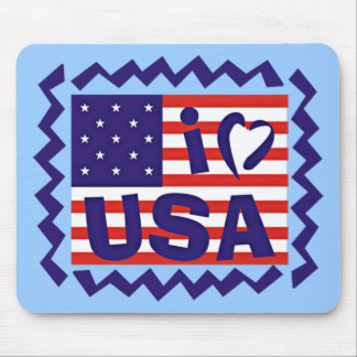I love USA Stamp Design Mouse Pads