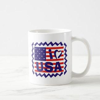 I love USA Stamp Design Mug