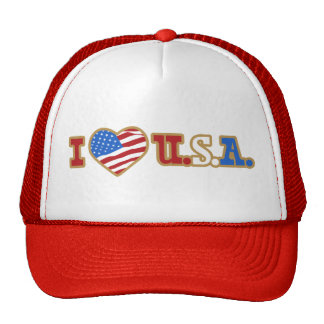 I Love USA Trucker Hat