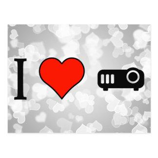 I Love Using Projector Postcard