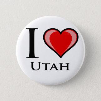 I Love Utah 6 Cm Round Badge