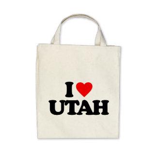 I LOVE UTAH CANVAS BAG
