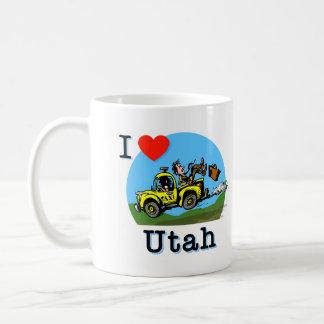 I Love Utah Country Taxi Basic White Mug