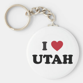I Love Utah Key Ring