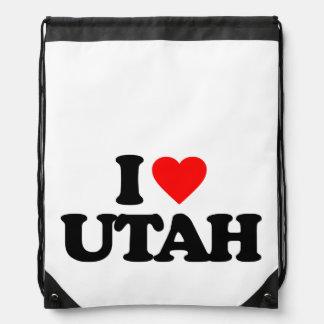 I LOVE UTAH CINCH BAGS
