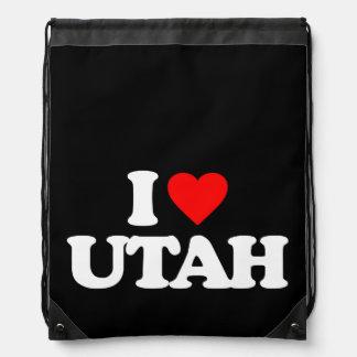 I LOVE UTAH DRAWSTRING BACKPACK