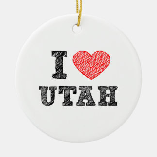I-love-Utah.png Christmas Ornament
