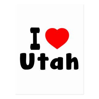 I Love Utah Postcard
