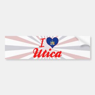 I Love Utica, New York Bumper Stickers
