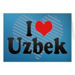 I Love Uzbek Card
