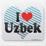 I Love Uzbek Mouse Pad