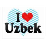 I Love Uzbek Postcard