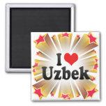 I Love Uzbek Refrigerator Magnet