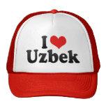 I Love Uzbek Trucker Hats