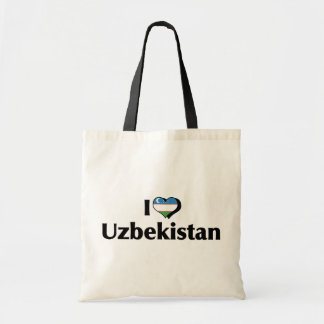 I Love Uzbekistan Flag Tote Bag
