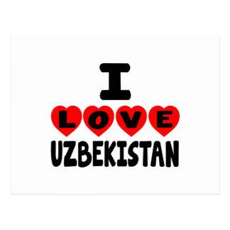 I LOVE UZBEKISTAN POSTCARD