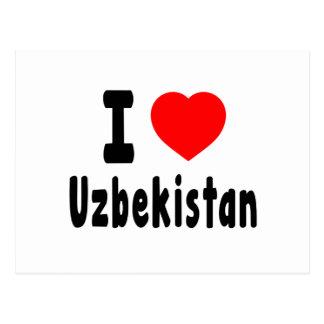 I Love Uzbekistan. Postcard