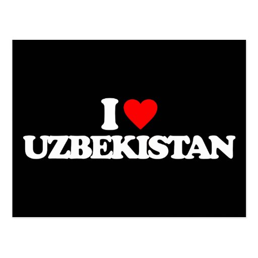 I LOVE UZBEKISTAN POSTCARDS