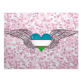I Love Uzbekistan -wings Postcard