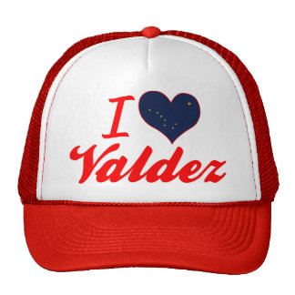 I Love Valdez, Alaska Mesh Hat