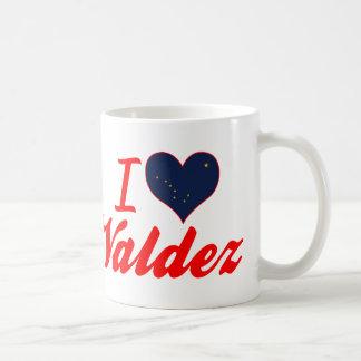 I Love Valdez, Alaska Mugs