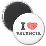 I Love Valencia Fridge Magnet