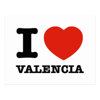 I Love Valencia Postcard
