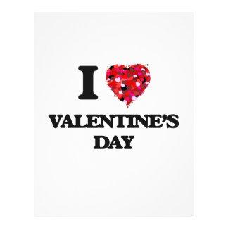 I love Valentine'S Day 21.5 Cm X 28 Cm Flyer