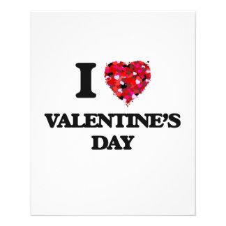 I love Valentine'S Day 11.5 Cm X 14 Cm Flyer