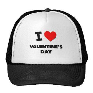 I love Valentine'S Day Mesh Hat