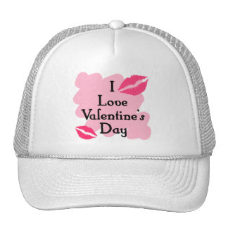 I love valentines day trucker hats