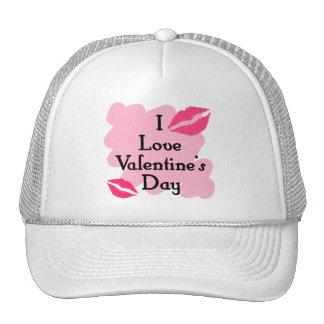 I love valentines day mesh hat