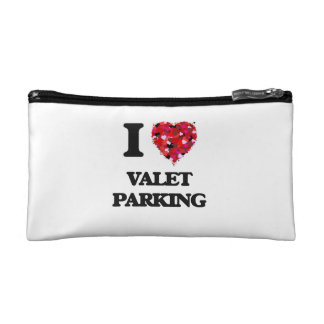 I love Valet Parking Cosmetics Bags