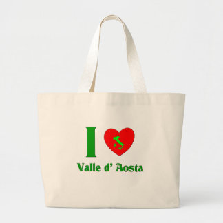 I Love Valle d' Aosta Italy Jumbo Tote Bag