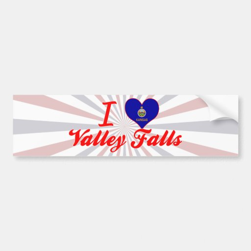 I Love Valley Falls, Kansas Bumper Stickers