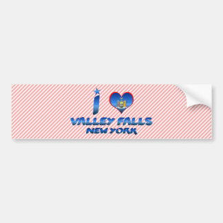 I love Valley Falls, New York Bumper Stickers