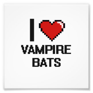 I love Vampire Bats Digital Design Photographic Print