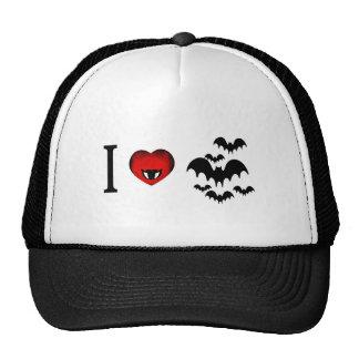 I Love Vampire Bats Hats