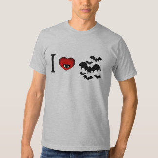 I Love Vampire Bats Tee Shirts