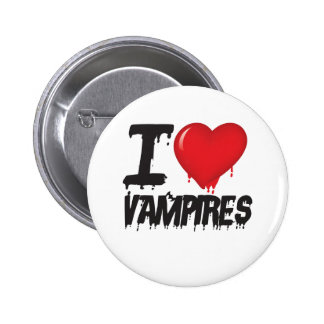 I love vampires 6 cm round badge