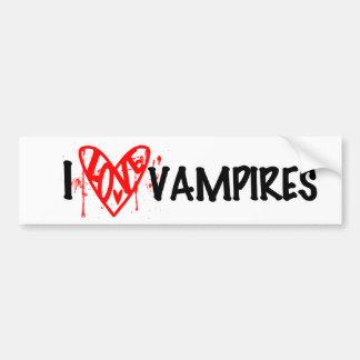I Love Vampires Bumpersticker Bumper Sticker