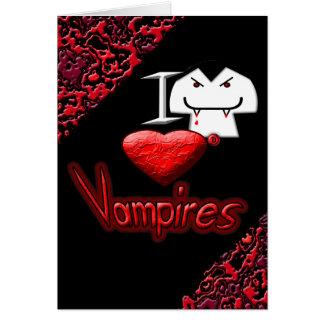 I Love Vampires Card