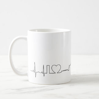 I love Vancouver in an extraordinary ecg style Coffee Mug
