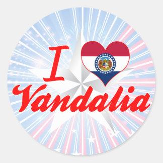 I Love Vandalia, Missouri Sticker